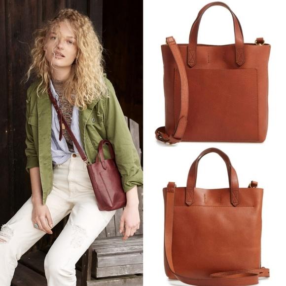 07dd7b540 Madewell Handbags - MADEWELL Small Leather Transport Crossbody Bag